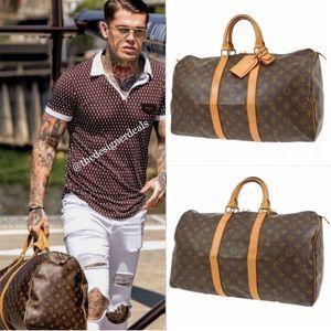 🔥‼️🔥Auth Louis Vuitton Keepall 45 Gym Duffle Bag